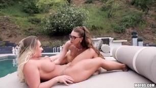 Girlsgonepink Nude Babes Cali Carter Elena Koshka Late Rent Leads To Lesbian Fun Mofos Netgirl Mercy