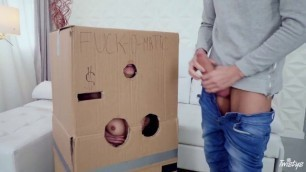 Amazing Woman Sandra Wellness Makeshift Cardboard Gloryhole Twistyshard Jenna Clove Gangbang Castingcouch Hd Cindy