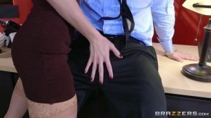 Brazzers Awesome Anna De Ville on Office Table Gets Doggy Fucked