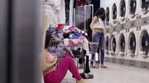 Annika Eve Pervsonpatrol Mofos Latina Gets Facial In Laundromat Natural Tits Fucked