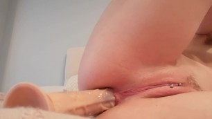 Toying my Ass and Pussy in Stockings